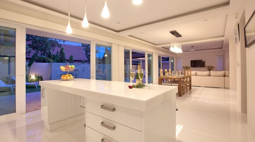 Villa Kitchen and Living Area