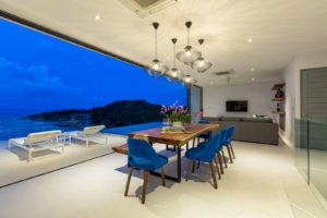 Villa Dining and Living Area